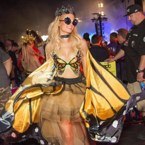 Exuding Whimsical Butterfly Vibes At EDC