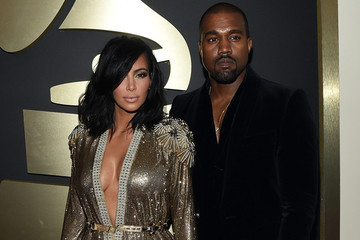Kim Kardashian and Kanye West's Couples' Cleavage