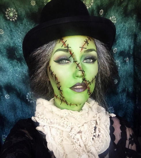 Frankenstein - The Most Hauntingly Gorgeous Halloween Makeup Looks On Instagram - Livingly
