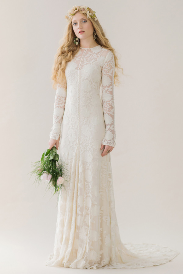 Long sleeved lace the best bohemian wedding dresses for Best boho wedding dresses