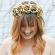 DIY Gold Floral Headband