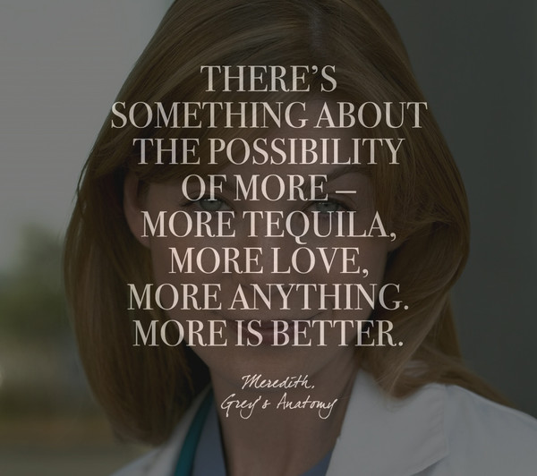Words by Meredith, 'Grey's Anatomy'