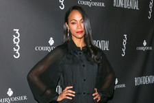 Look of the Day: Zoe Saldana's Sheer Style