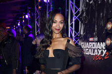 Look of the Day: Zoe Saldana's Romantic Edge