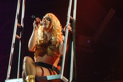 Britney Spears wows the crowds as she performs at the HP Pavilion  in San Jose forming part of her 56-show