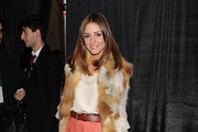 Olivia Palermo.attends the Mercedes-Benz NY Fashion Week Fall 2011 at Lincoln Center.