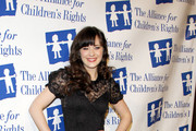 Zooey Deschanel attending the Alliance For Children's Rights annual dinner held at the Beverly Hilton Hotel in Los Angeles.