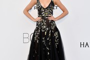 Hailey Clauson Embroidered Dress