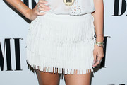 Colbie Caillat Fringed Skirt