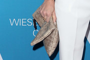 AnnaLynne McCord Metallic Clutch