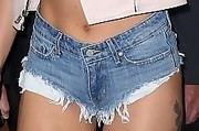 Lady Gaga Denim Shorts