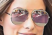 Olivia Wilde Aviator Sunglasses