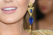 Blake Lively Dangling Gemstone Earrings