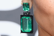 Zoe Kravitz Dangling Gemstone Earrings