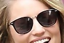 Dianna Agron Square Sunglasses