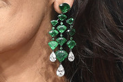 Catherine Zeta-Jones Gemstone Chandelier Earrings