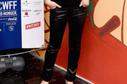 Tiffani Thiessen Leather Pants