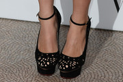 Suki Waterhouse Platform Pumps