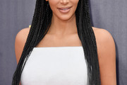 Kim Kardashian Long Cornrows