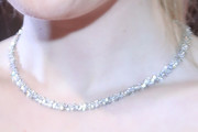 Dakota Fanning Diamond Tennis Necklace