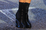 Paris Hilton Lace Up Boots
