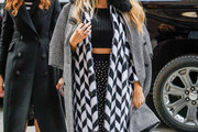Blake Lively Printed Coat