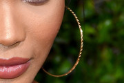 Chanel Iman Gold Hoops