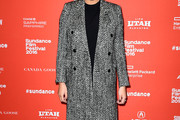 Chrissy Teigen Tweed Coat