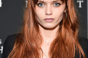 Abbey Lee Kershaw Long Wavy Cut with Bangs