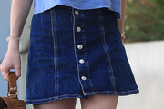 Dakota Fanning Denim Skirt