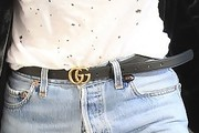 Kourtney Kardashian Leather Belt