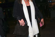 Jennifer Aniston Suede Shoulder Bag
