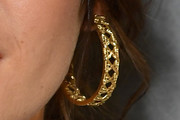 Shailene Woodley Gold Hoops